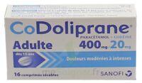 CODOLIPRANE ADULTES 400 mg/20 mg, comprimé sécable à Rueil-Malmaison