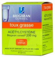 ACETYLCYSTEINE BIOGARAN CONSEIL 200 mg Pdr sol buv en sachet B/20 à Rueil-Malmaison