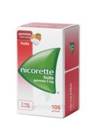 Nicorette 2 mg Gomme à mâcher médicamenteuse sans sucre fruits Plq/105 à Rueil-Malmaison