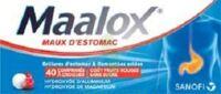MAALOX MAUX D'ESTOMAC HYDROXYDE D'ALUMINIUM/HYDROXYDE DE MAGNESIUM 400 mg/400 mg SANS SUCRE FRUITS ROUGES, comprimé à croquer édulcoré à la saccharine sodique, au sorbitol et au maltitol à Rueil-Malmaison
