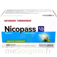 Nicopass 1,5 mg Pastille sans sucre menthe fraîcheur Plq/96 à Rueil-Malmaison