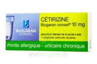CETIRIZINE BIOGARAN CONSEIL 10 mg, comprimé pelliculé sécable à Rueil-Malmaison