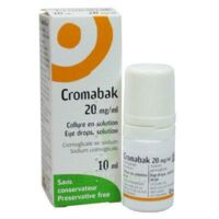 CROMABAK 20 mg/ml, collyre en solution à Rueil-Malmaison