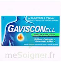 GAVISCONELL Coprimés à croquer sans sucre menthe édulcoré à l'aspartam et à l'acésulfame potas Plq/24 à Rueil-Malmaison