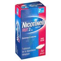 NICOTINELL FRUIT 2 mg SANS SUCRE, gomme à mâcher médicamenteuse Plaq/36gom à Rueil-Malmaison